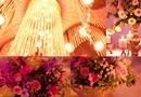 Aranjament Central floral pe Sfesnic auriu / Deocr Nunta Ambasador Events & Lesuire