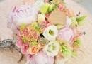 Buchet de Mireasa / Cununie Civila - Peach Dream - pastelat, somon, verde menta, accente de crem