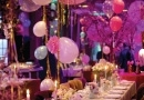 DESIGN BOTEZ CLUBUL DIPLOMATIC | FLOWERS & BALLOONS | GLAM MODERN SPARKLING