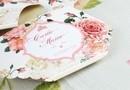 """Invitatie de Botez in forma de pampers `'Vintage Baby Roses """" / Designer Corina Matei"""