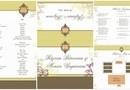 Invitatie de Nunta Aristrocrat - Kitul cuprinde Invitatia pentru Nunta, Meniul de Nunta, PlaceCardul, Numerele de Masa si Planningul