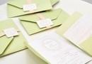 "Invitatie de Nunta "" Royal Mint "" -verde menta, accente de somon / designer Corina Matei, acum si pe www.c-store.ro"