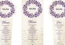 Invitatie de Nunta Stil Carte / Model Royal - Invitatia este in forma de carte iar meniul pentru Nunta in forma de Buchet / Kitul include Invitatia de Nunta, Numerele de masa, Meniul de Nunta, Planning Invitati