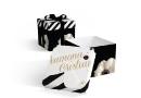 "Invitatie de nunta tip cutie "" Anemona "" - negru, gold | graphic designer Corina Matei"