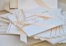 Invitatie pentru Nunta / White Cream - culoare ivory, folio gold, Design by T.Ina