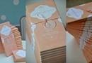 """Invitatii de Nunta de Ciocolata 'Peach Geometry"""" - O invitatie dulce pentru invitatii dvs.!"""
